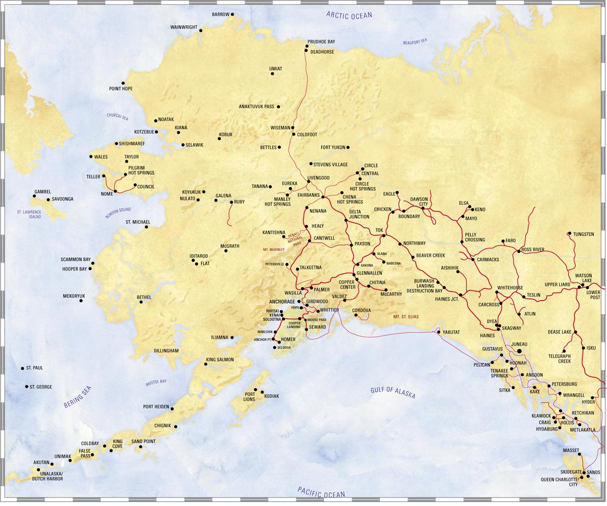 Alaska In September - Map of alaska towns